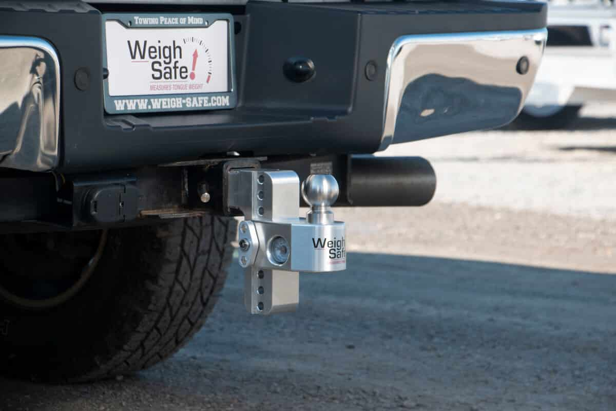 Black Powder Coated Steel /& Lifetime Gauge Warranty Adjustable Trailer Hitch Built-in Hydraulic Scale Weigh Safe SWS8-2.5 Ball Mount with 8 Drop 2.5 Shank//Shaft 18,500 GTW Stainless Steel Balls