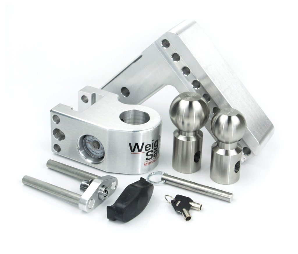 Stainless Steel Balls Weigh Safe SWS6-2.5 Ball Mount with 6 Drop 2.5 Shank//Shaft 12,500 GTW Adjustable Trailer Hitch Built-in Hydraulic Scale Black Powder Coated Steel /& Lifetime Gauge Warranty