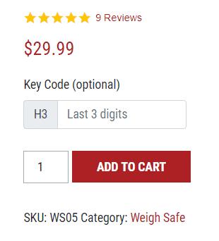 weighsafe hitch locking pin