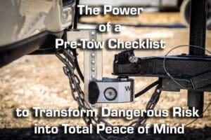pre-tow checklist