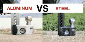 aluminum hitch vs. steel hitch